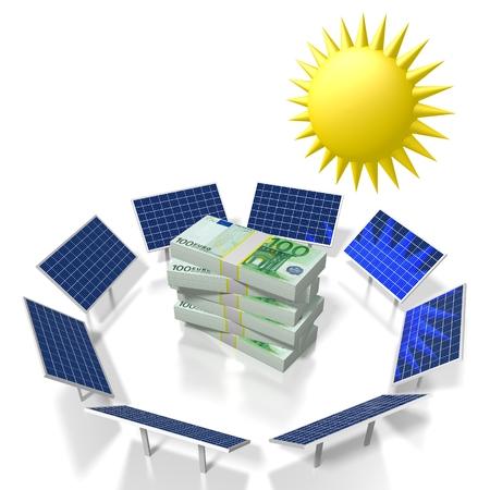 Sole, concetto di energia solare Archivio Fotografico - 79990759