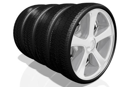car tire: 3D wheels, tires