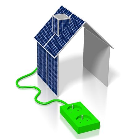 Casa, concetto di pannelli solari Archivio Fotografico - 79991151