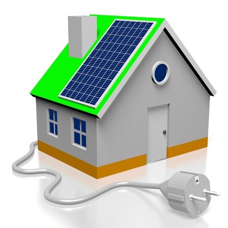 Casa, concetto di pannelli solari Archivio Fotografico - 80082264