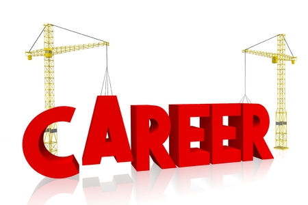 Crane concept - career Stock Photo