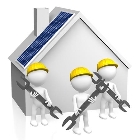 Assemblage de panneaux solaires Banque d'images - 80043002