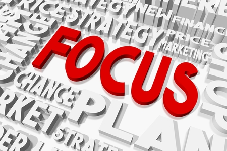 oncept: Focus concept Stock Photo