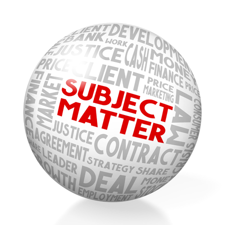 Subject matter concept