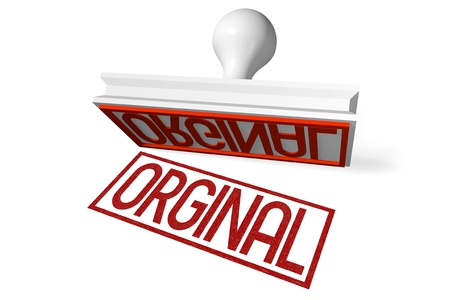 orginal: 3D rubber stamp - orginal