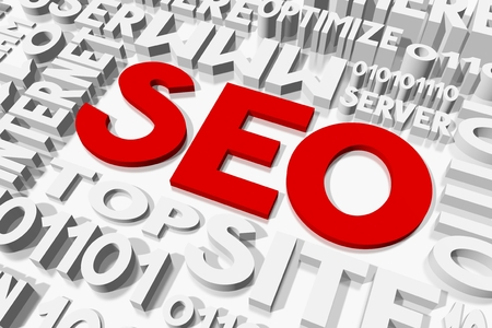 oncept: SEO - search engine optimization