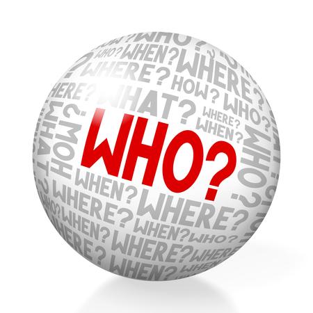 Who - concept Stock Photo