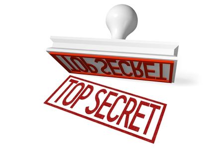 3D rubber stamp - top secret