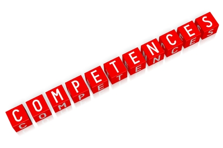 Competences - 3D cube word Zdjęcie Seryjne