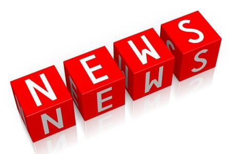 News - 3D cube word Stock Photo