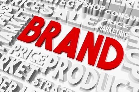 oncept: Brand concept Stock Photo