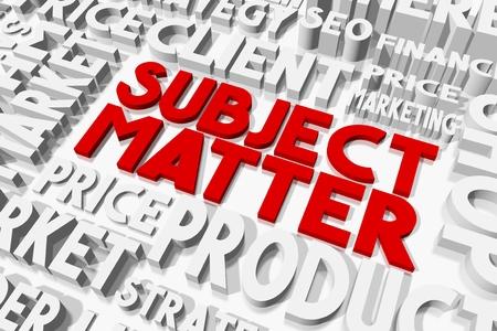 oncept: Subject matter concept