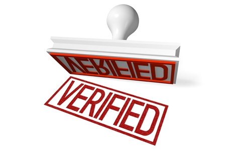 verified: 3D rubber stamp - verified