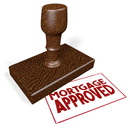 3D rubber stamp - mortgage approved
