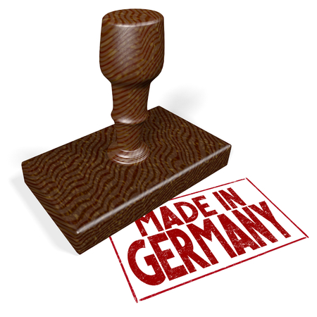 3D rubber stamp - made in Germany Stock Photo