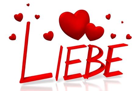 3D Liebie - love in German