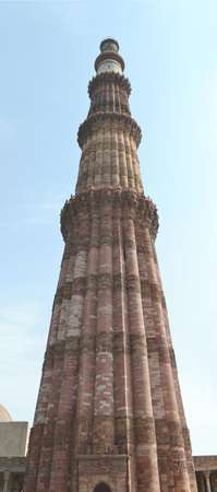minar: India, New Delhi, Qutub Minar Stock Photo