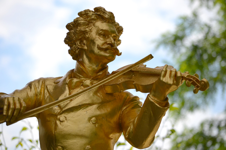Monument of Johann Strauss Banco de Imagens