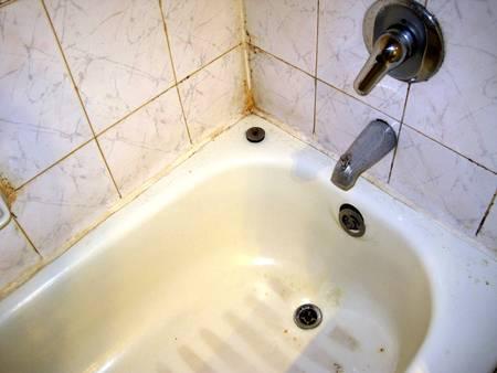 Old bathtub Stock Photo