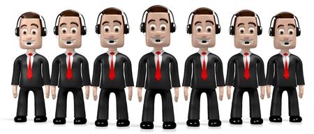 customer service representative: 3D businessmen - salesmen Stock Photo