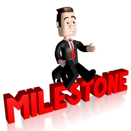 3D businessman milestone concept Stock Photo