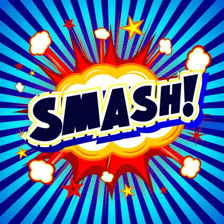 smashing: Bang illustration - Smash! Stock Photo