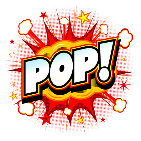 Bang illustratie - Pop! Stockfoto