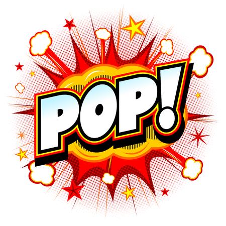 red sound: Bang illustration - Pop! Stock Photo