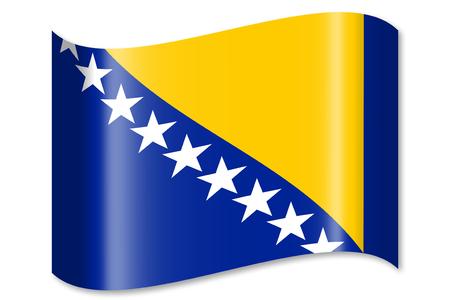 Vlag van Bosnië Stockfoto