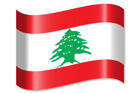 lebanon: Flag of Lebanon Stock Photo