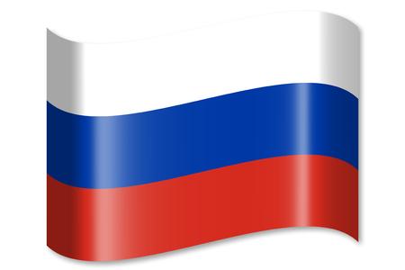 ロシア、ロシア連邦の旗 写真素材