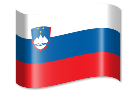 Flag of Slovenia Stock Photo