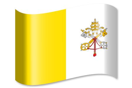 Flag of Vatican City Stok Fotoğraf