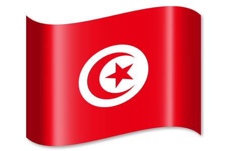チュニジアの国旗 写真素材