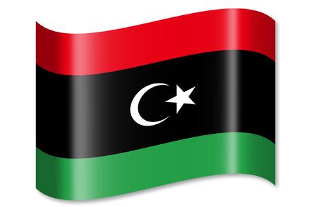 libya: Flag of Libya