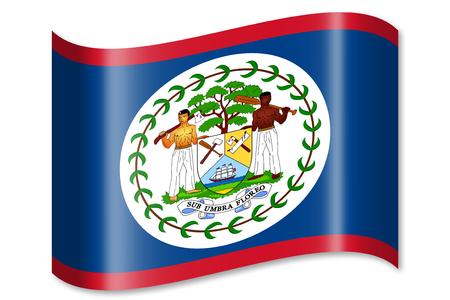 belize: Flag of Belize Stock Photo
