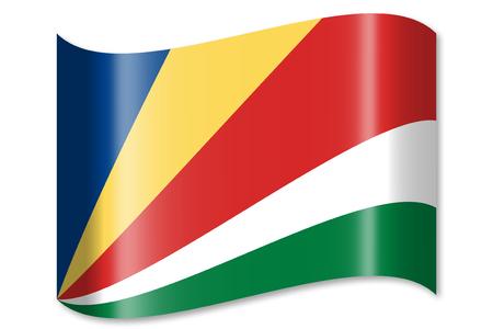 セーシェルの国旗 写真素材