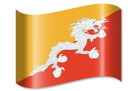 Flag of Bhutan Stock Photo