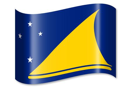 tokelau: Flag of Tokelau Stock Photo