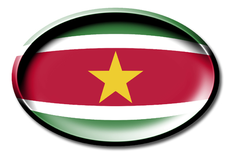 Flag of Suriname Stock Photo