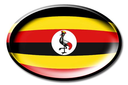 ウガンダの国旗 写真素材