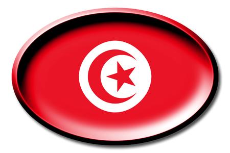 Vlag van Tunesië Stockfoto