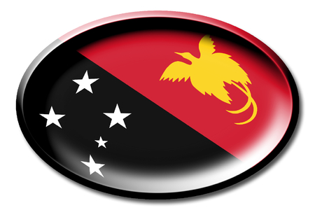 Flag of Papua New Guinea Stock Photo