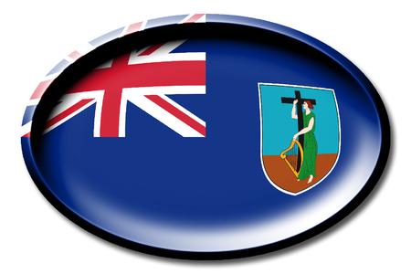 Flag of Montserrat Stock Photo