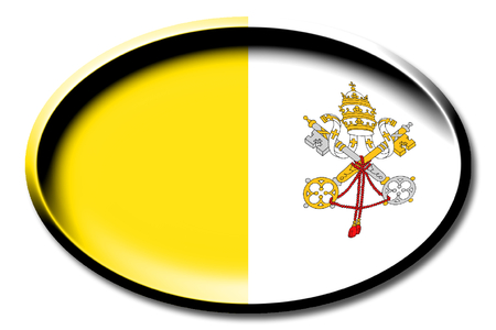 Bandera de la Ciudad del Vaticano Foto de archivo - 83598427