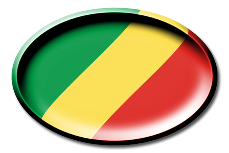 Flagge der Republik Kongo Standard-Bild - 83027228