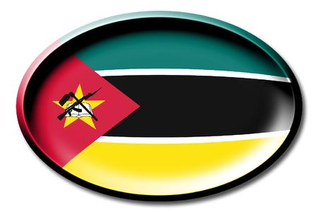 Flagge von Mosambik Standard-Bild - 83027414