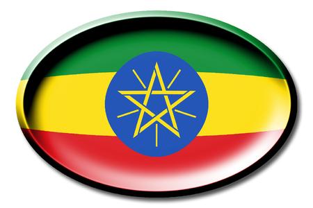 national flag ethiopia: Flag of Ethiopia Stock Photo