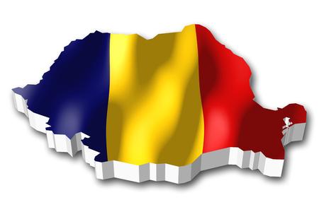 3D flag - Romania