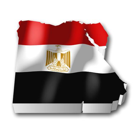 3D flag - Egypt